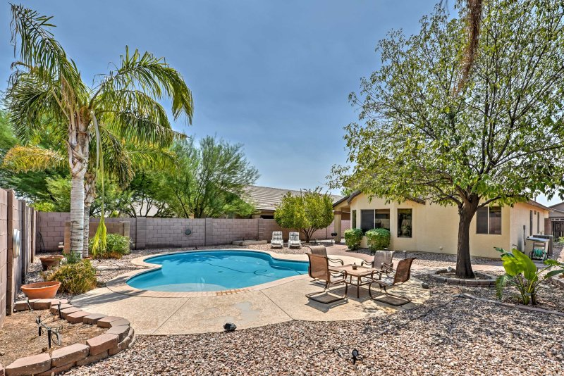 Escape the heat in this beautiful vacation rental situated in south Chandler.