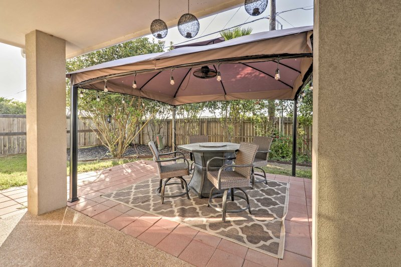 Unwind on the back patio during your stay at this house in College Station.