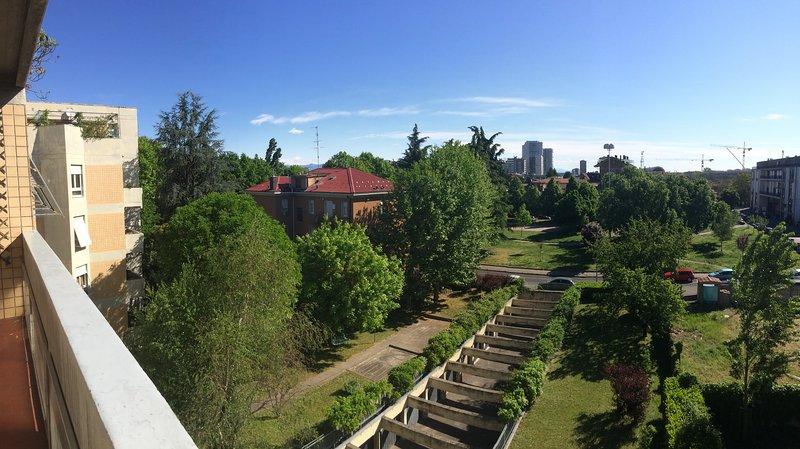Aussicht von der Wohnung Balkon