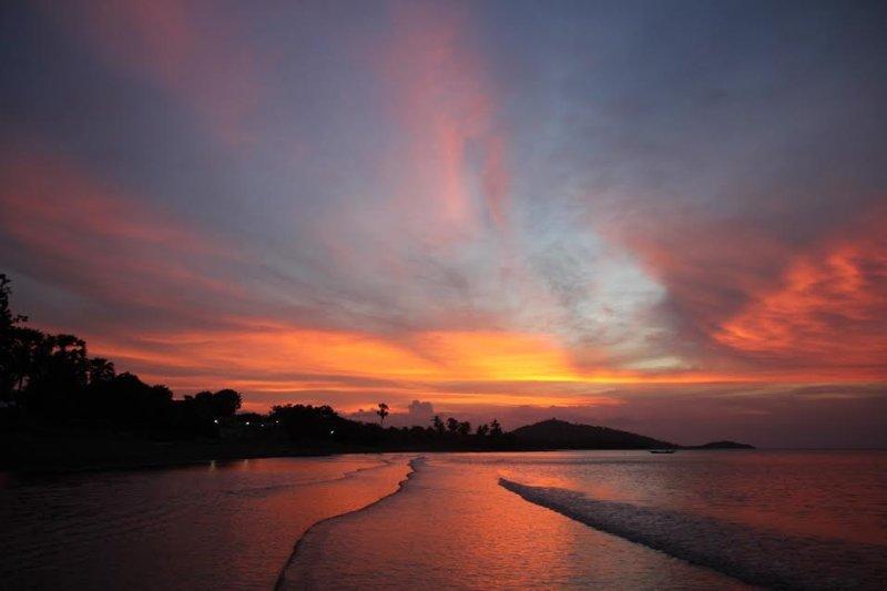 Prachtige zonsondergangen (en zonsopgangen) voor de villa