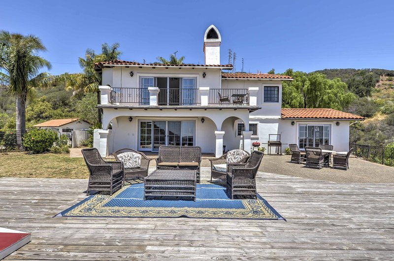 Take a vacation in paradise at this 4-bedroom, 4-bathroom Santa Barbara vacation rental home.