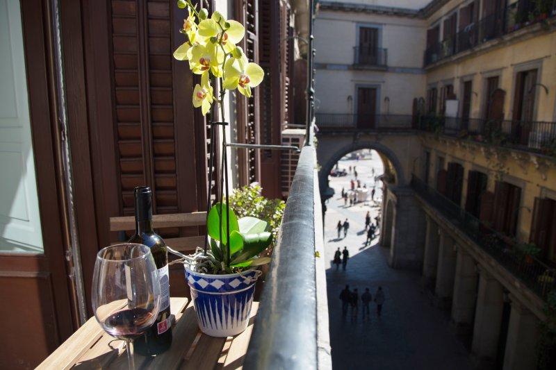 Balcony view to Plaza Mayor Plaza Mayor entry View from the balcony