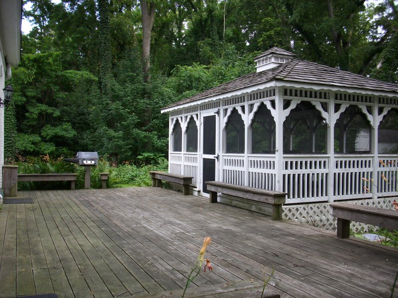 Deck, Screened-in Gazebo, Grill all ready for use