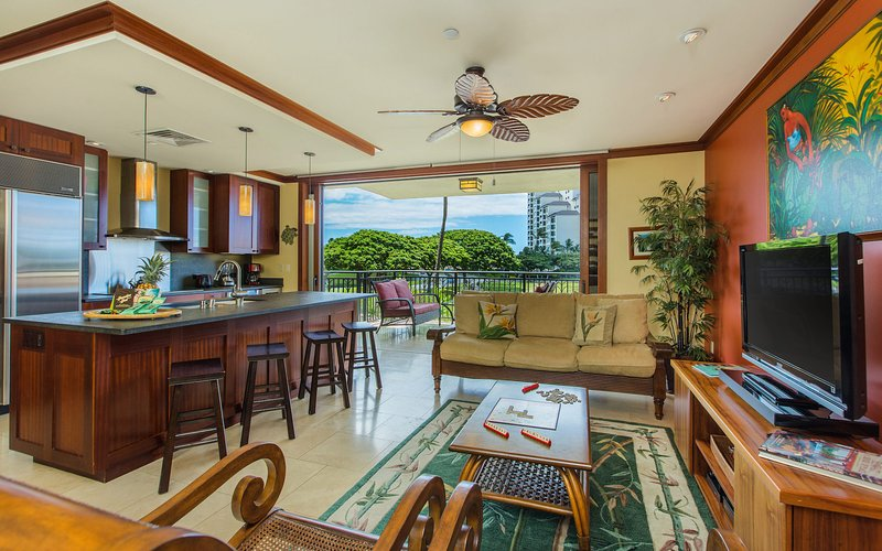Hale Malu Ko Olina Beach Villa (O221) -Open Concept Living Space