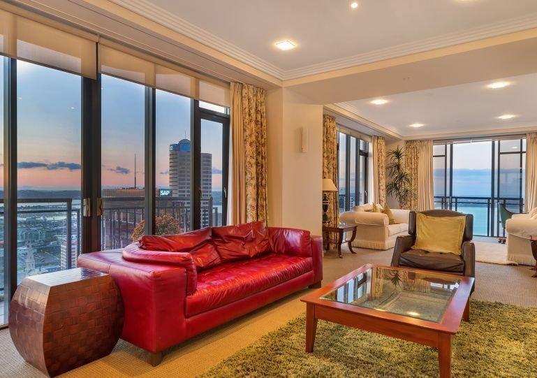 Bright, spacious living area.