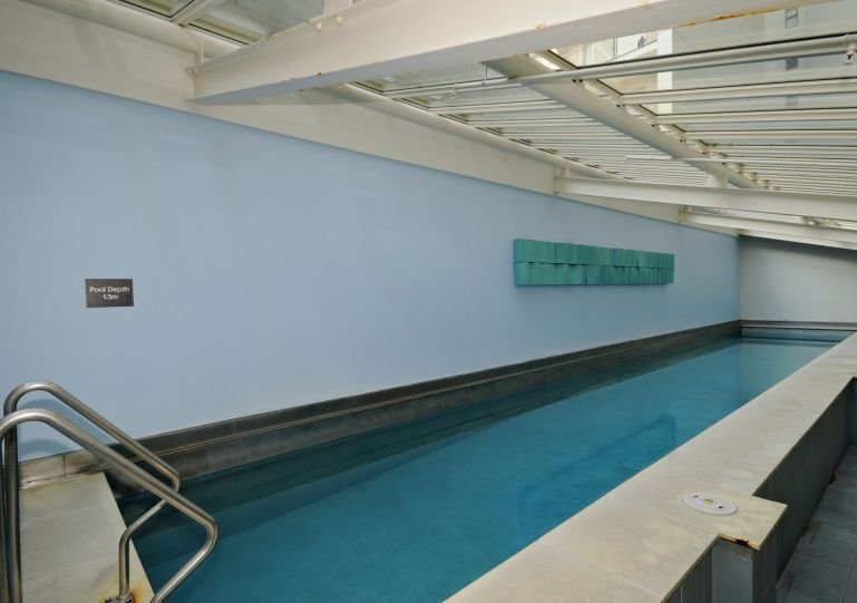 and one indoor lap pool plus a spa pool and sauna