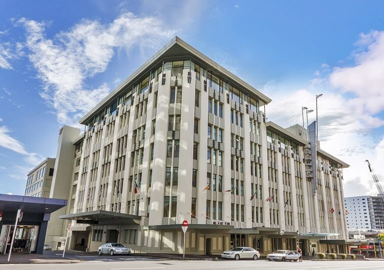 The Heritage Hotel is housed in the old Farmers Department Store on Hobson street