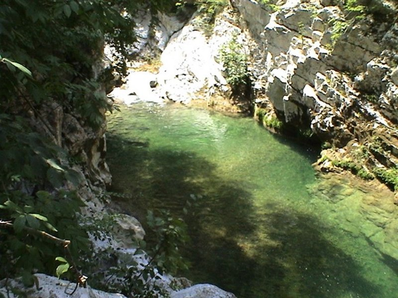 Calore River at Felitto