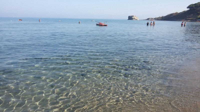 Clear waters of the Bay of Trentova