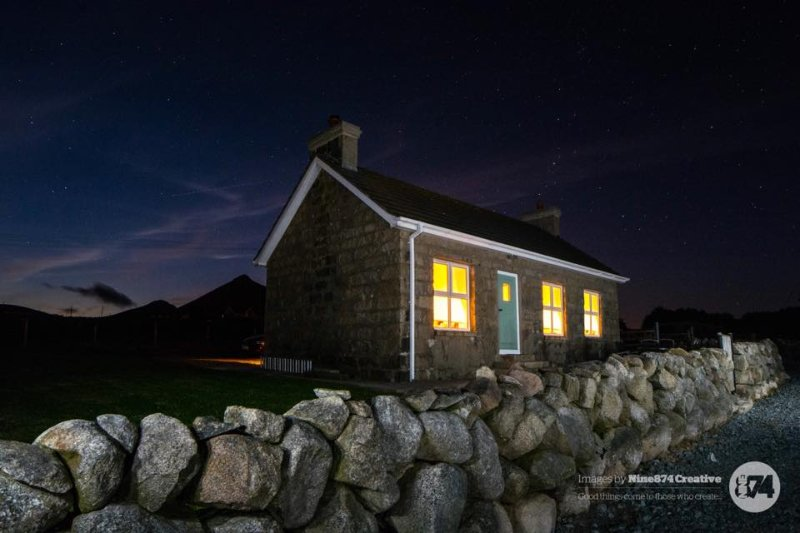 Night time at Haughian's Cottage