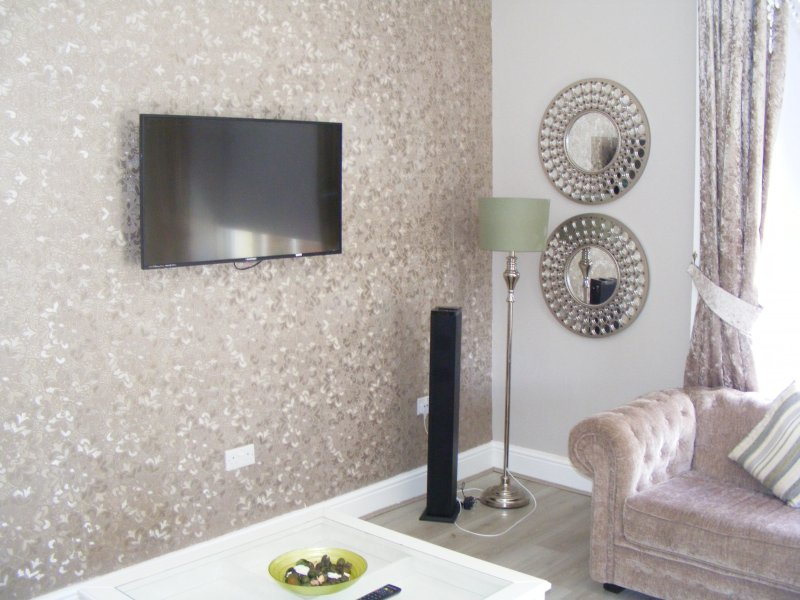 lcd tv and bluetooth sound system