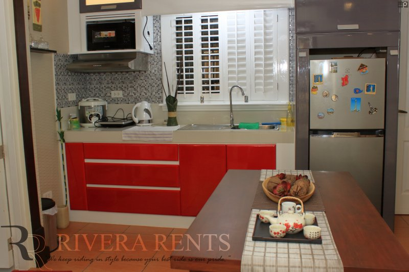 fully equipped kitchen - refrigerator - rice cooker - microwave - electric kettle - induction stove