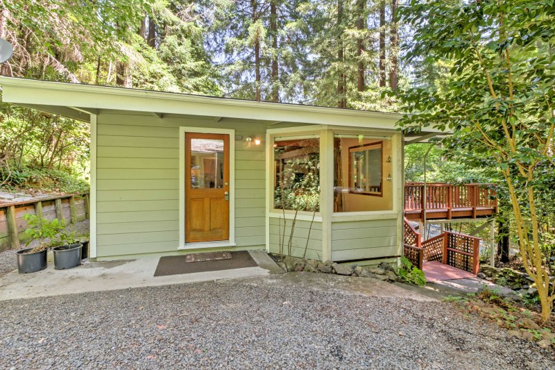 Take some time for yourself and relax among the Redwoods in Cazadero.