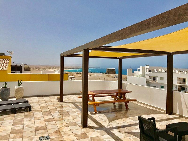 Cotillo Sunshine I mit Meerblick auf Sandstrand, alquiler de vacaciones en El Cotillo