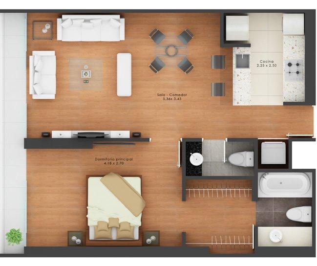 Superior condo 'Upper Pardo' - Apartment Layout