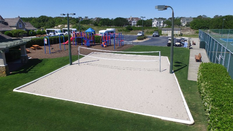 Sand volleyball court at The Currituck Club
