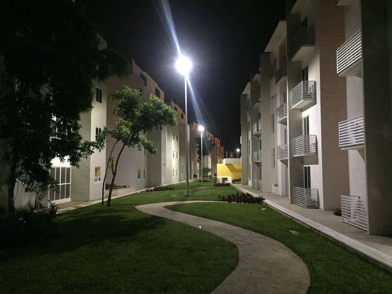 night view outside dela building