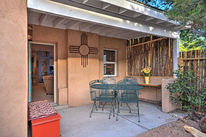Spend lazy afternoons sitting on the patio in the backyard relishing in the fresh air.