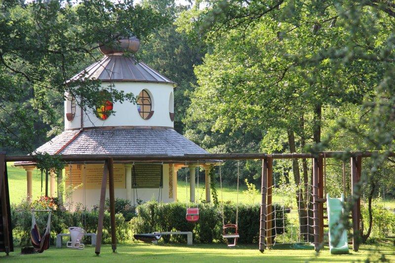 Farm chapel at the entrance....