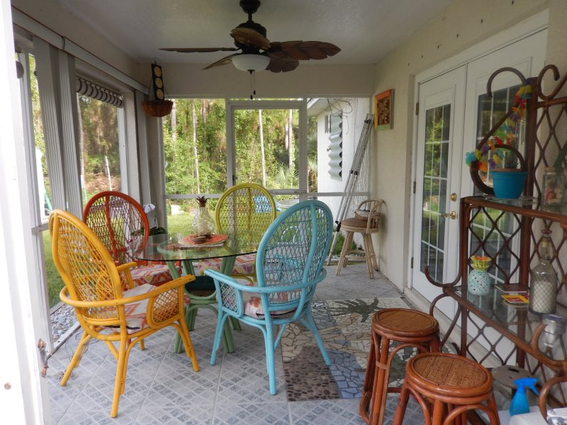 The lanai offers a quiet place to have your coffee and also to entertaining.  Great for reading.