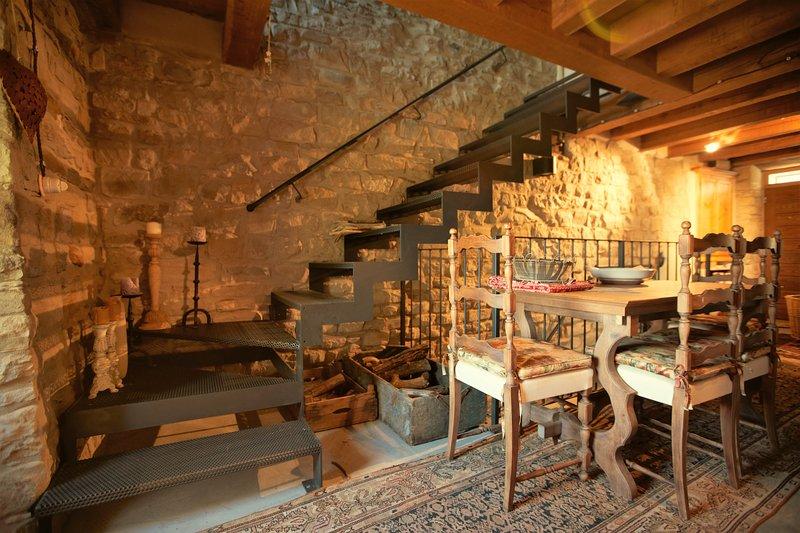 RUM på bottenvåningen av slottet öppen planlösning