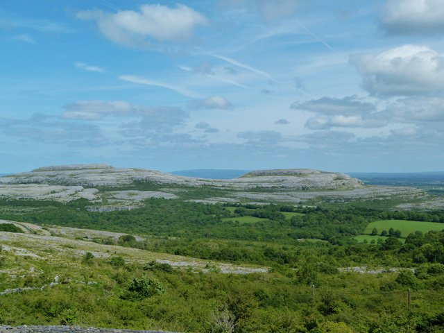 Burren view from the top of the pass behind the house