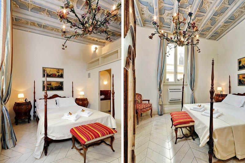 Trevi Fountain to Spanish Steps 2 bedroom, alquiler de vacaciones en Roma