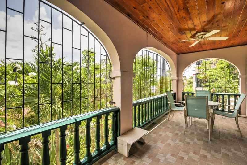 Soak up the Caribbean sun when you stay at this 2-bedroom, 2-bathroom vacation rental condo in Christiansted.