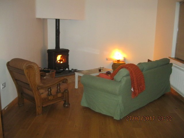 wood burning stove for chilly evenings