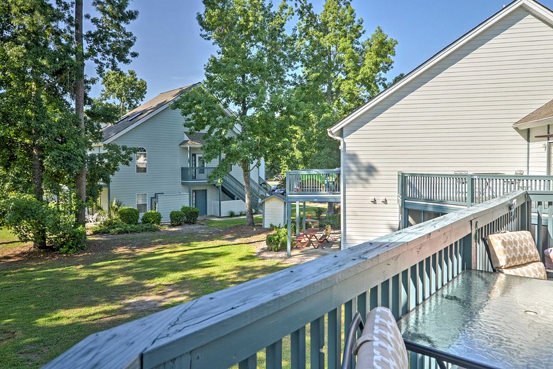 Enjoy the pleasant South Carolina weather from from your private balcony.