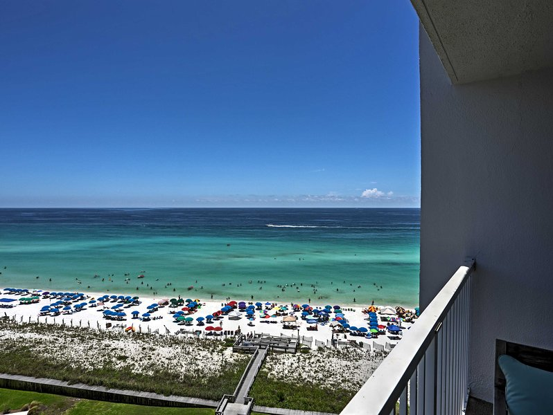 Enjoy the ocean views from the private balcony!