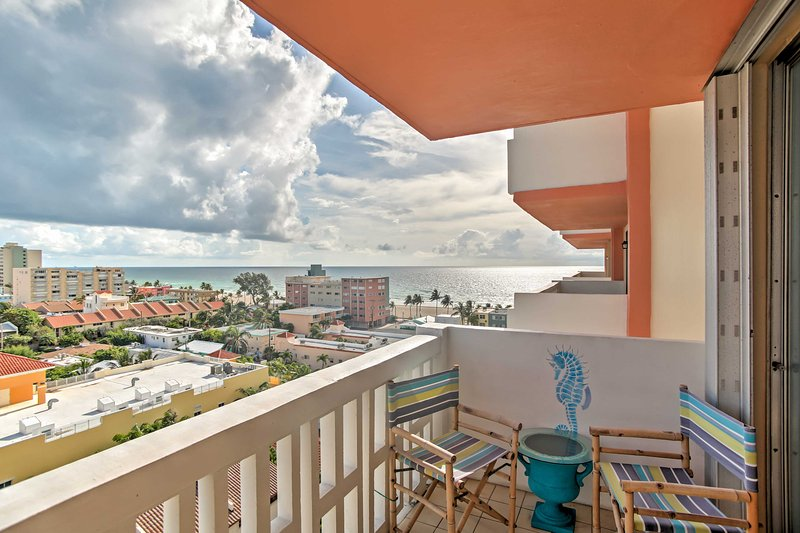 Picturesque ocean views from the balcony are a constant reminder of the paradise all around you.