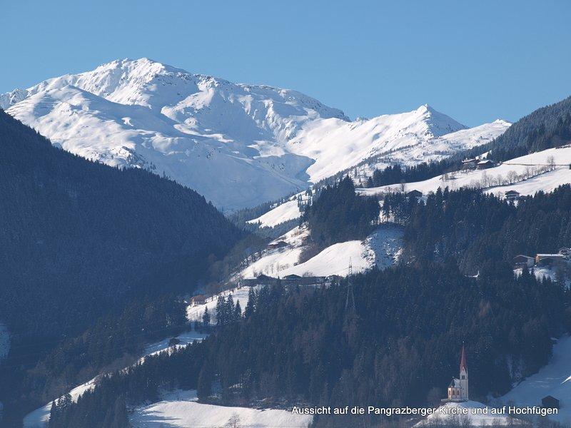 vintern för att skidområdet Hochfügen