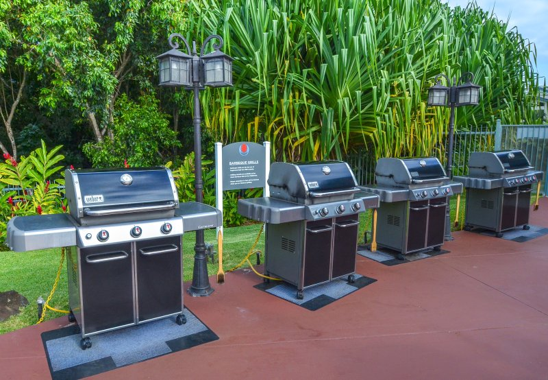 BBQ area for guest use