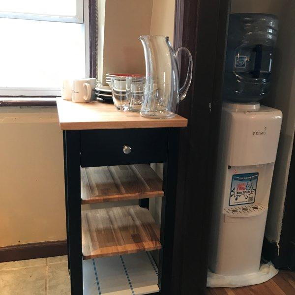 material de cozinha / dispensador de água pura para a direita