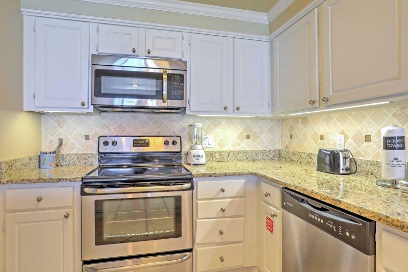 Preparar deliciosas refeições caseiras na cozinha totalmente equipada.