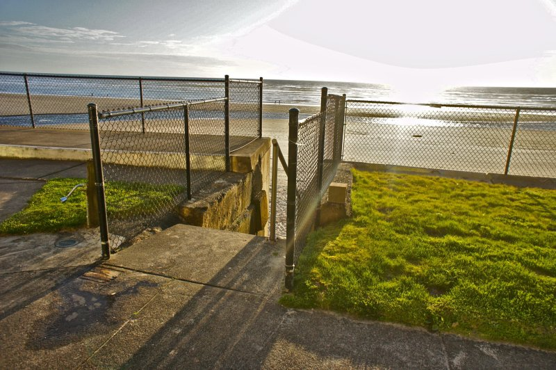 There is a stairway just outside your window that takes you right to the beach