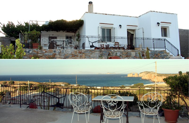 Coastal Villa With Magnificent View Of Azalas Bay, location de vacances à Moutsouna