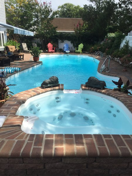 8' Deep Heated Pool and Spa
