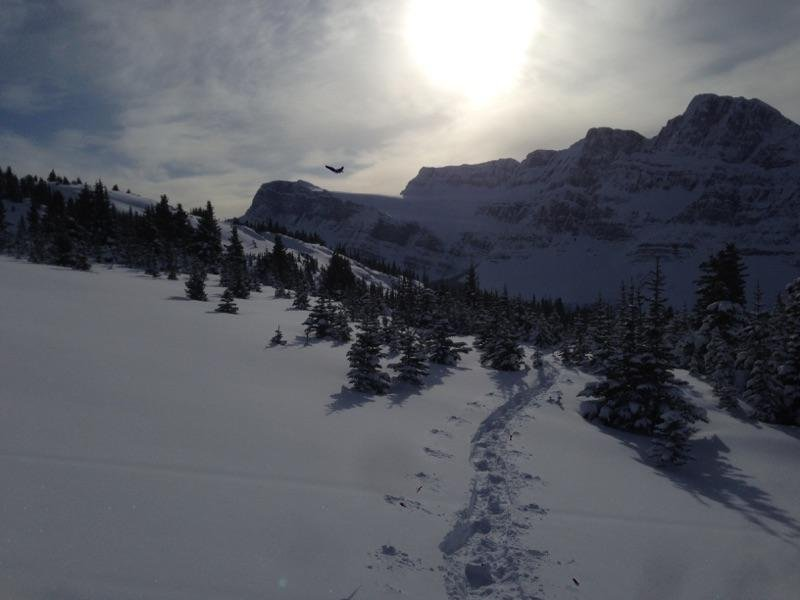 Snowshoeing in the nearby mountains