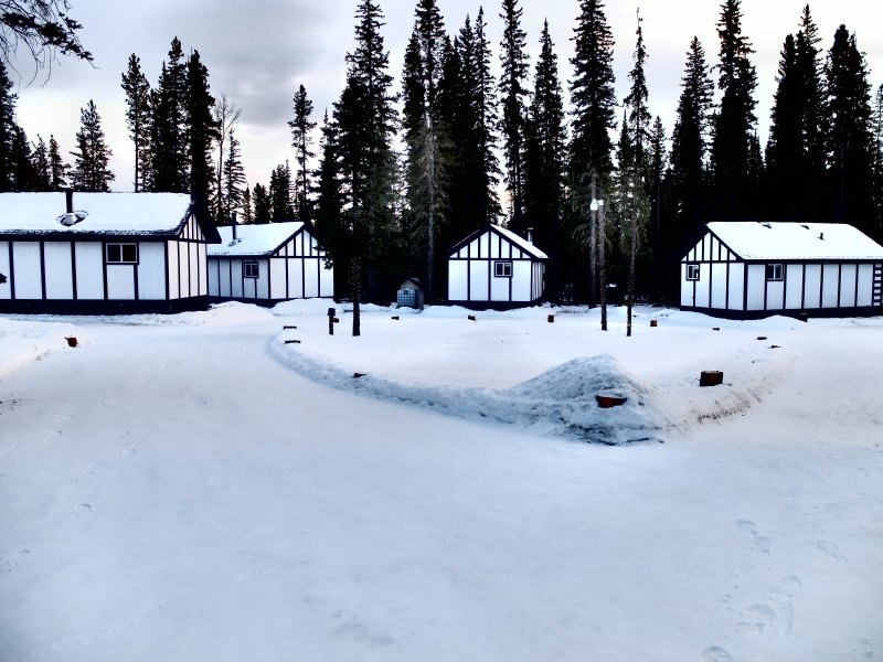 Winter at the cabins