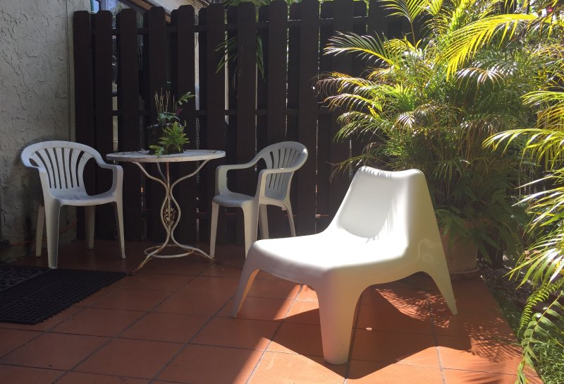 Enjoy the Florida sunshine in your private patio