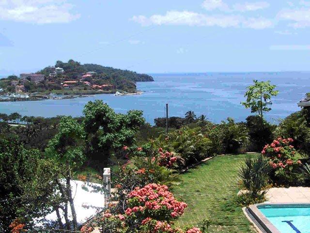 Vista do Oceano Pacífico e Flamingo Beach a partir de Villas Casa Loma