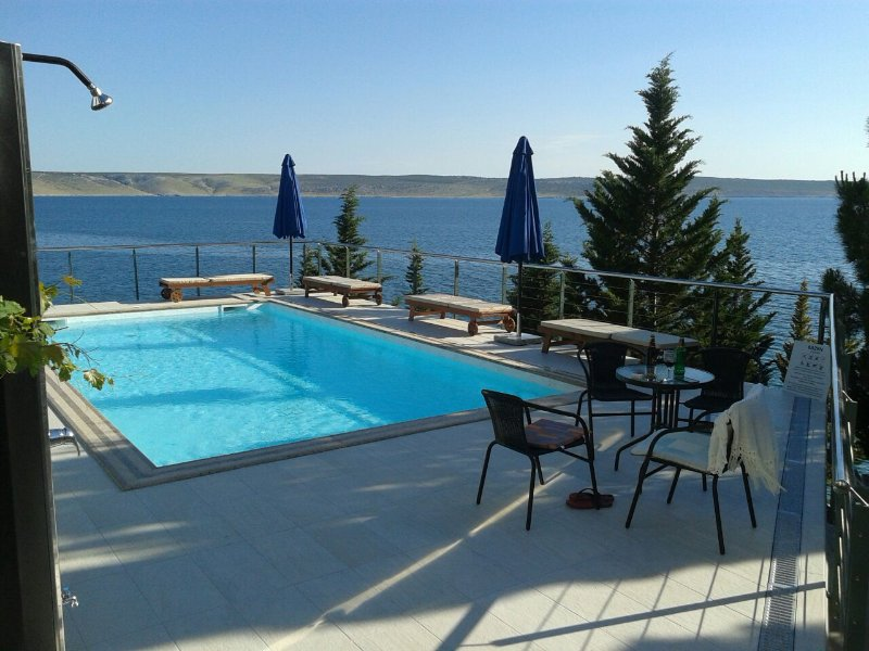 Ivan · Stylish apartments in beachfront villa with heated pool and beach, vacation rental in Starigrad-Paklenica