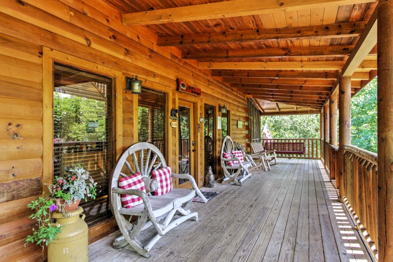 Tranquility awaits you at this vacation rental cabin in Sevierville, Tennessee.
