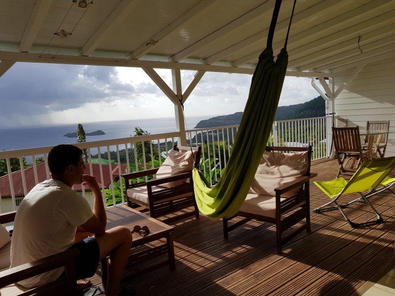 Maison  BLEU CORAIL vue mer et ilets Pigeon, location de vacances à Bouillante