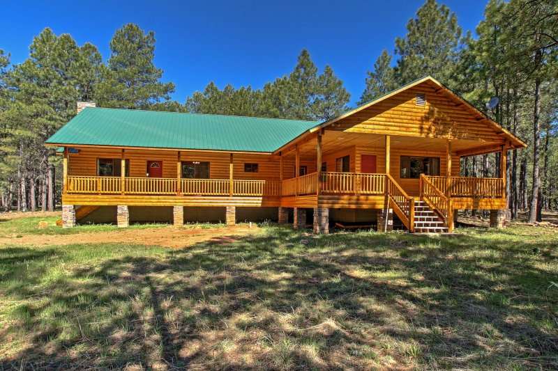 Escape to a luxurious, national forest destination at this Forest Lakes vacation rental cabin!
