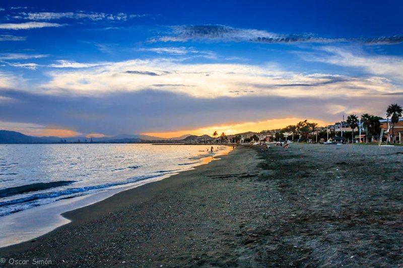 Sunset Stränden von El Palo