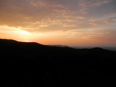Sunset - una vista impressionante di sera