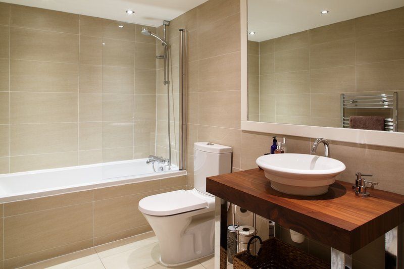 Bathroom.  Shower over bath